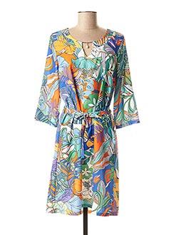 Robe mi-longue bleu HALOGENE pour femme