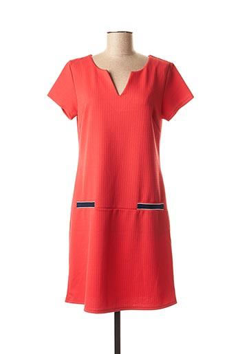 Robe mi-longue rouge BY MEG pour femme