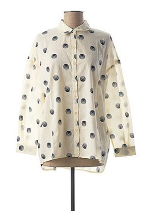 Chemise manches longues beige NICE THINGS pour homme