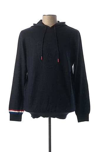 Pull col rond bleu ARISTOW pour homme
