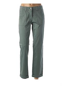 Pantalon 7/8 vert SANDWICH pour femme
