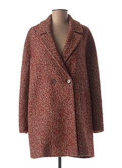 Manteau long marron INDI & COLD pour femme