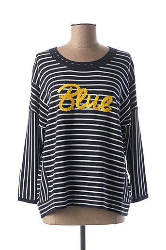 Pull col rond bleu ONE STEP pour femme