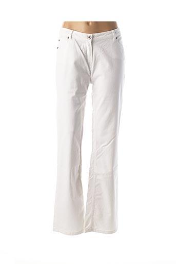 Jeans coupe droite blanc DIPLODOCUS pour femme
