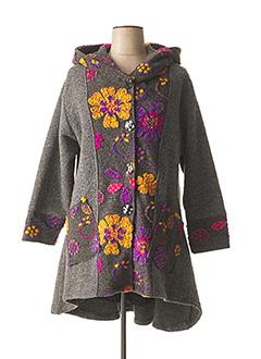 Manteau court gris LACONY pour femme