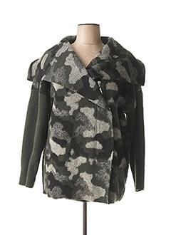 Manteau court vert KOKOMARINA pour femme