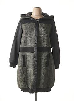 Manteau long noir JEAN MARC PHILIPPE pour femme