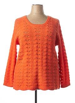 Pull col rond orange CISO pour femme