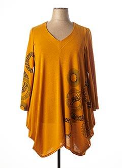 Pull tunique jaune JEAN MARC PHILIPPE pour femme