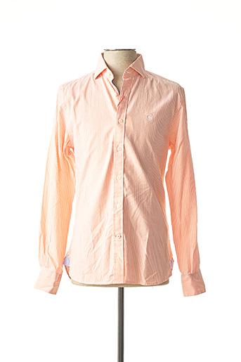 Chemise manches longues orange EL GANSO pour homme