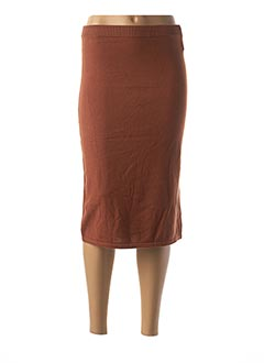 Jupe mi-longue marron ANIMALE pour femme