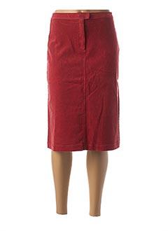 Jupe mi-longue rouge CREEKS pour femme