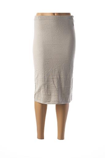 Jupe mi-longue gris ANIMALE pour femme