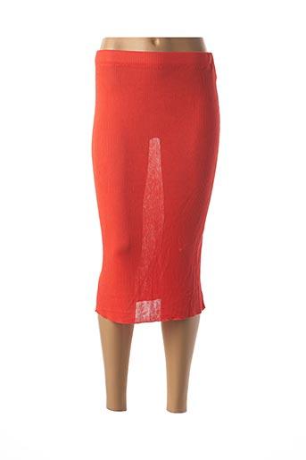 Jupe mi-longue orange ANIMALE pour femme