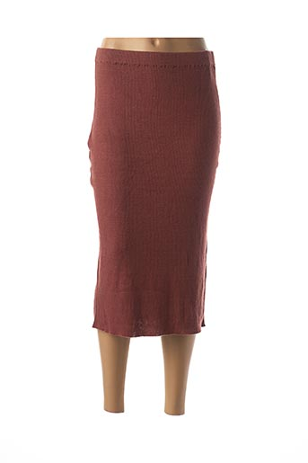 Jupe mi-longue rouge ANIMALE pour femme