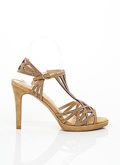 Sandales/Nu pieds beige ALMA EN PENA pour femme