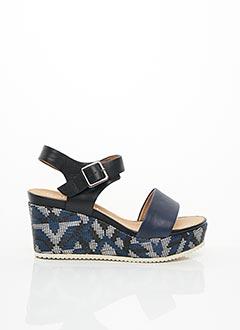 Sandales/Nu pieds bleu KARSTON pour femme