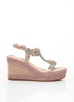 Sandales/Nu pieds rose ALMA EN PENA pour femme