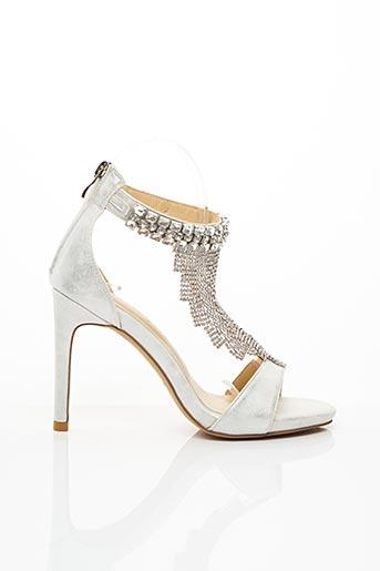 Sandales/Nu pieds gris ALMA EN PENA pour femme