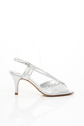 Sandales/Nu pieds gris CARMEN POVEDA pour femme