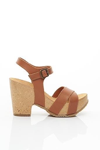 Sandales/Nu pieds marron BIO NATURA pour femme