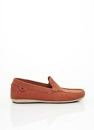Chaussures bâteau orange TBS pour homme