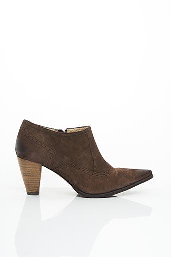 Bottines/Boots marron ALAIN BASTIANI pour femme