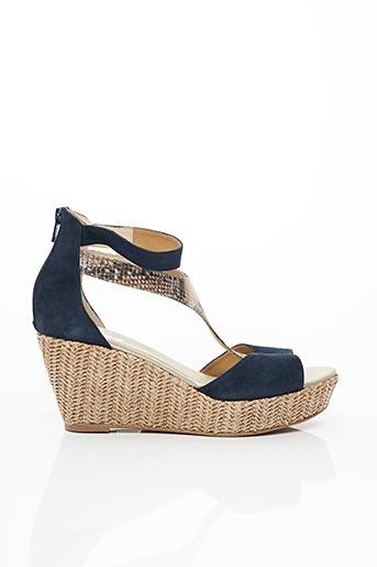 Sandales/Nu pieds bleu BZ BIS pour femme