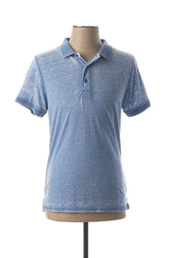 Polo manches courtes bleu APOLOGIZE pour homme