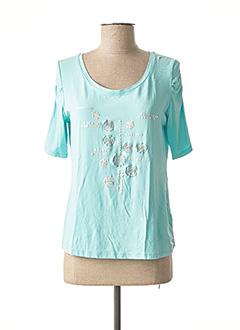 T-shirt manches longues bleu FELINO pour femme