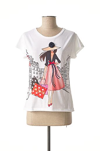 T-shirt manches courtes blanc ABRIL pour femme