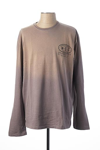 T-shirt manches courtes gris MCS pour homme
