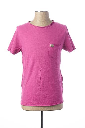 T-shirt manches courtes rose MCS pour homme