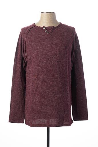 T-shirt manches longues rouge INDIVIDUAL pour homme