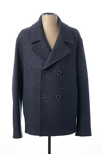 Manteau court bleu SERGE BLANCO pour homme