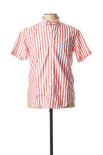 Chemise manches courtes rouge SERGE BLANCO pour homme