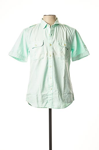 Chemise manches courtes vert REPLAY pour homme