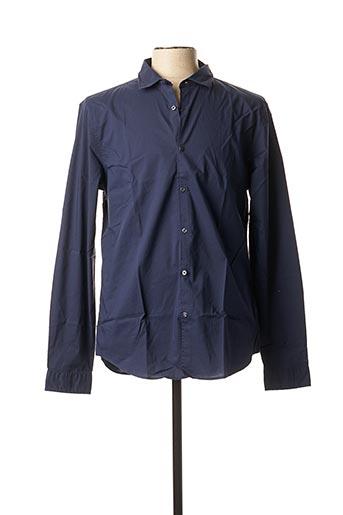 Chemise manches longues bleu INDIVIDUAL pour homme