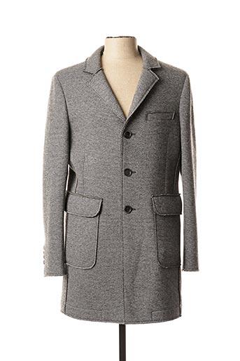 Manteau long gris BRUNO SAINT HILAIRE pour homme