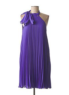 Robe mi-longue violet CARLA MONTANARINI pour femme