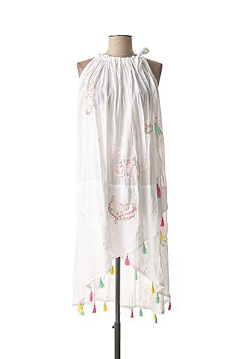 Robe mi-longue blanc FANATIQUE pour femme