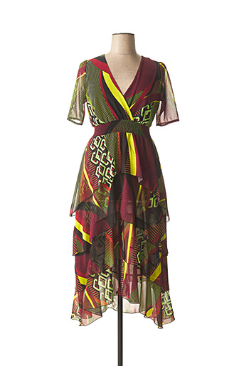 Robe mi-longue rouge CARLA MONTANARINI pour femme