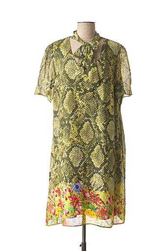 Robe mi-longue vert DAMA MIA pour femme