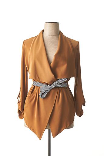 Veste casual marron DAMA MIA pour femme