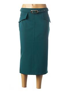 Jupe mi-longue vert CARLA MONTANARINI pour femme