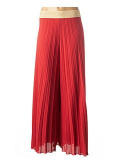 Pantalon 7/8 rouge CARLA MONTANARINI pour femme