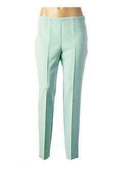 Pantalon 7/8 vert CARLA MONTANARINI pour femme