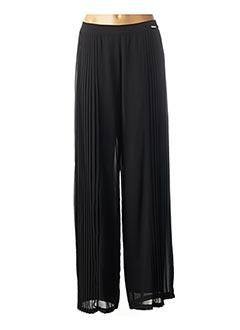 Pantalon casual noir CARLA MONTANARINI pour femme