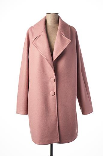 Manteau long rose DAMA MIA pour femme