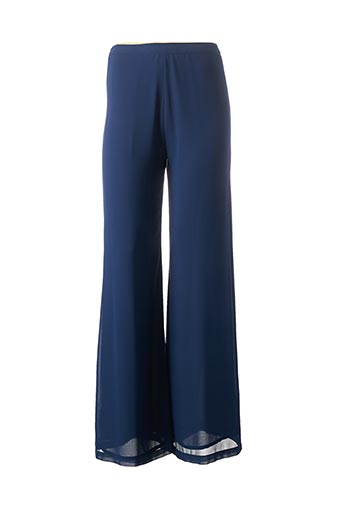 Pantalon chic bleu CARLA MONTANARINI pour femme